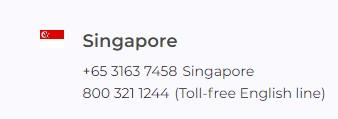 IQ Option Contact Singapore